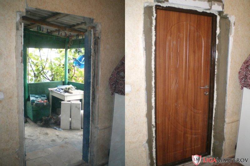 установка металлической двери в квартиру